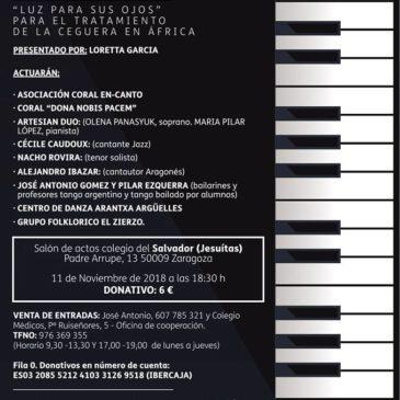 Nota de prensa Heraldo de Aragon. VI Festival Iluminafrica